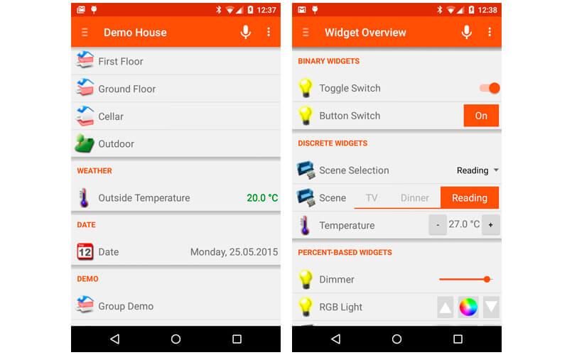 OpenHAB - app domotica