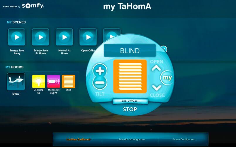 Tahoma home control - app domotica