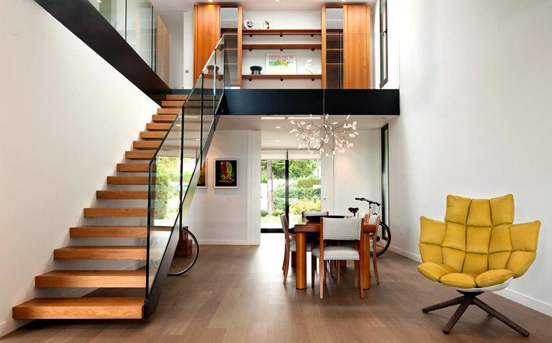 Diseños de doble altura - escalera